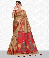 327017f00fa472 Gauri Laxmi Enterprise Womens Art Silk Saree (GLE TS-2, Orange ...