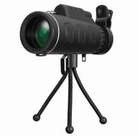 Goldtech Panda 40X60 HD Zoom Lens Camping Travel Waterproof Binocular Telescope+Tripod+Clip for Cell Phone Reflecting (Automatic Tracking) Monocular(28 mm, Black)