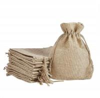 Lifekrafts Jute linen Potlis   Festival,Birthday & Party Favour Gift Bags for Return Gifts Bags   Pack of 100   Size 10 x 10 cms   Jute Linen,Burlap   Natural Jute Color  Potli(Brown)