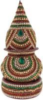 Navrang Kalash For Puja Wedding Temple Diamond Kalash Loti Nariyal Set Wood, Aluminium Kalash(Height: 10 inch, Multicolor)