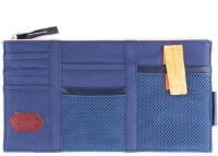 Futurekart Car Sun Visor Storage Point Pocket Documents Organizer, Mobile, Tablet Holder, Credit Card and Visiting Card Holder Bag Visor Pouch(Blue)