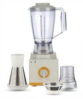 BMS Lifestyle AMR502A_Yellow 5-in-1 Food Processer, Smoothie Blender, Wide Mouth Centrifugal Juice Extractor 2-Speed for Fruits and Vegetable with Blender, Chopper Grinder, Meat Grinder 500 W Food Processor(Off White, Yellow)