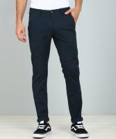 Arrow Sport Regular Fit Men Dark Blue Trousers