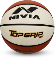 Nivia Top Grip 2.0 Basketball - Size: 6(Pack of 1, Brown)