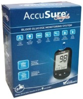 AccuSure Simple Glucometer With 25 Strips Glucometer(Black)