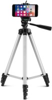 Kumar Retail Camera Tripod with Mobile Clip Holder Bracket for All DSLR Cameras and Smartphones Tripod(Silver,Black, Supports Up to 3200 g)