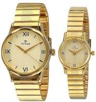 Titan 15802490YM02 Bandhan Analog Watch For Couple