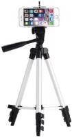 Kumar Retail Tripod-3110 Portable & Foldable Camera & Mobile Tripod Tripod(Silver,Black, Supports Up to 3200 g)