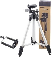Mob Fest 3110 Tripod smart phones compatiable Portable tripod||360 degree tripod|| Foldable triopod|| Camera stand|| Mobile Tripod|| Camcorder tripod|| Camera mount|| Extendable tripod||Three-Dimensional Head & Quick Release Plate|| Tripod(Silver, Black, Supports Up to 1500 g)