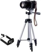 Kumar Retail 3110 Foldable & Portable Camera & Mobile Tripod Tripod(Silver,Black, Supports Up to 3200 g)