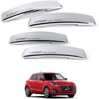 I Pop Plastic Car Door Guard(Silver, Pack of 4, Universal For Car, Swift)