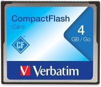 Verbatim CF Card 4 GB Compact Flash Class 4 4 MB/s  Memory Card