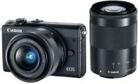 Canon M100 Mirrorless Camera EF-M15-45mm + EF-M55-200mm(Black)