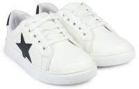 HASTEN Boys & Girls Lace Sneakers(White)
