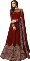 Fashionuma Georgette Embroidered Semi-stitched Salwar Suit Dupatta Material(Semi Stitched)