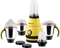 Anjalimix Designo (Yellow) 1000 Watts Smoothie Maker cum Mixer Grinder with 2 Bullet Jars & 3 S.S. Jars 1000 Juicer Mixer Grinder(Yellow, 5 Jars)