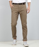 Arrow Sport Regular Fit Men Brown Trousers
