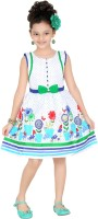 Trendyy Girls Midi/Knee Length Party Dress(Blue, Half Sleeve)
