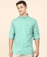 Arrow Sport Men Solid Casual Light Green Shirt
