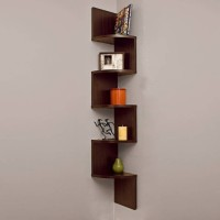 ArtfulCrafts (Number of Shelves - 5 Brown) Wood Wall Shelf(Number of Shelves - 5, Brown)