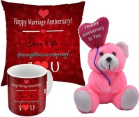 ME&YOU Cushion, Mug, Soft Toy Gift Set