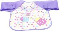 Futurekart Kid's Polyester Long Sleeved Waterproof Smock Apron Bib 35X0.2X21.4 cm (Purple)(Purple)