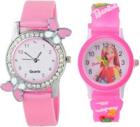 STANDARD CHOICE Beautiful Butterfly And English Girls Stylish combo Pack Of 2 Best Kids For New Generation Analog Watch  - For Girls