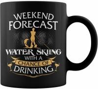 RADANYA Weekend Forecast Water Skiing BMUG1339 Ceramic Mug(350 ml)