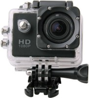 Mezire Action Shot 1080P spoort action camera Universal With HD 1080PSports Action Camera Waterproof Camera Multiple Photo Shooting Modes Vehicle-Mounted Suitable with all Android or Iphone Devices for all smartphone Sports and Action Camera(Black, 12 MP) Sports and Action Camera(Black, 12 MP)