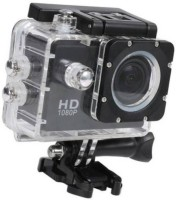 Mezire Action Shot  HD 1080P Cam Waterproof Sport Camera Diving Ultra HD Screen Sports and Action Camera  (Black, 12 MP) Sports and Action Camera(Black, 12 MP)