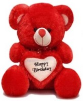 TOYS LOVER Soft Teddy Bear Birthday Gift For Girlfriend/Wife Happy Birthday Teddy Soft Toy 2 Feet Long Colors Red  - 60 cm(Red)