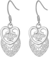 Nilu's Collection Charms Silver Plated Women Wedding Fashion Jewelry Metal Drops & Danglers