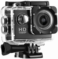 Mezire Action Shot HD 1080P Sports HD Camera Video Camera with Waterproof Camera Case Sports and Action Camera(Black, 12 MP) Sports and Action Camera(Black, 12 MP)
