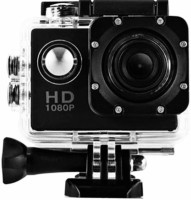 Mezire Action Shot HD 1080P Full HD Action Camera with 170 Degree Ultra Wide-Angle Lens & Full Accessories Sports and Action Camera(Black, 12 MP) Sports and Action Camera(Black, 12 MP)