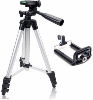 MobFest Tripod-3110 Portable Camera Tripod Kit Tripod(Black, Silver, Supports Up to 1500)
