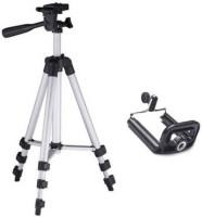 GROSTAR Portable Digital Camera Mobile Stand Tripod, Tripod Kit, Monopod Tripod(Silver, Black, Supports Up to 3200 g)