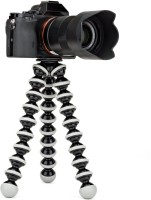 eDUST 10 inch Plastic Foldable Octopus Mini Gorilla Tripod Stand for Mobile Camera, DSLR, Smartphone and Action Cameras Tripod(Black, White, Supports Up to 1000)