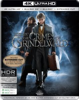 Fantastic Beasts: The Crimes of Grindelwald (Steelbook) (4K UHD + Blu-ray 3D + Blu-ray + Extended Cut) (4-Disc Box Set)(4K(UHD) Blu-ray English)