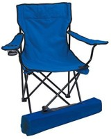 VDNSI Folding Garden Chair   Ideal for Camping, Travelling, Lawn, Patio, Perfect for Adult Fabric Outdoor Chair(Blue)