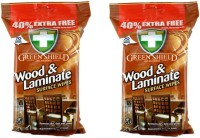Green Shield Wood And Laminate Surface Wipes 70's Pack Of 2(2 Pieces)