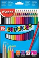 Maped 832017-Maped Color'Peps Color Pencil Set - Pack of 36 (Multicolor) Pencil(Multicolor, Red, Black, Green, Purple, Orange, Blue, gray, Dark Green)