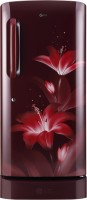 View LG 215 L Direct Cool Single Door 5 Star Refrigerator(Ruby Glow, GL-D221ARGY) Price Online(LG)
