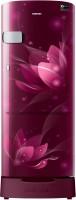 View Samsung 215 L Direct Cool Single Door 4 Star Refrigerator(Saffron Red, RR22R373YR8/HL)  Price Online