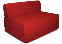 Aart Store High Density Foam 3X6 Feet One Seater Sofa Cum Bed Red Color Single Sofa Bed(Finish Color - Red Mechanism Type - Fold Out)