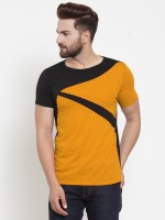 COBIO MAN Graphic Print Men Round Neck Yellow T-Shirt