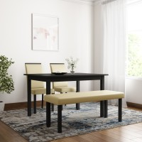 d18d494a43 Flipkart Perfect Homes Arranmore Solid Wood 4 Seater Dining Set(Finish  Color - Walnut)