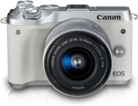 Canon M6 Mirrorless Camera EF-M15-45 IS STM(White)