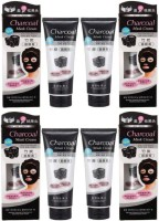 CHARCOAL FR_Charcoal Purifying Cleansing Black Peel Off Anti-Blackhead Suction Mask Cream, 520g - Pack of 4(520 g)