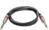 SeCro 6.5mm Male to Male (3 Meter) Premium 6.35mm (1/4 inch) Male to 6.35mm (1/4 inch) Male Mono Plug Cable(Black)