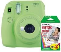 FUJIFILM Instax Mini 9 Lime Green with 20 Shots film Instant Camera(Green)